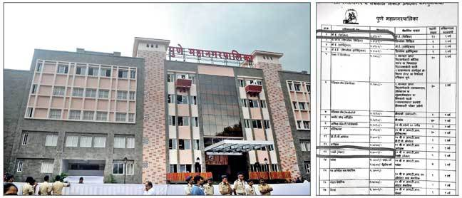 The advertisement (right) was brought out by the PMC's general administration department