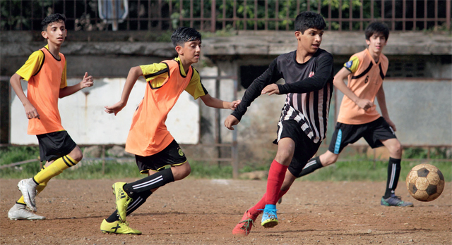 The MSSA Div-IV match between Sharon English and City International at Azad Maidan yesterday ended in a 0-0 draw