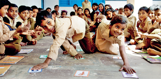 Educate Girls' students are taught through games