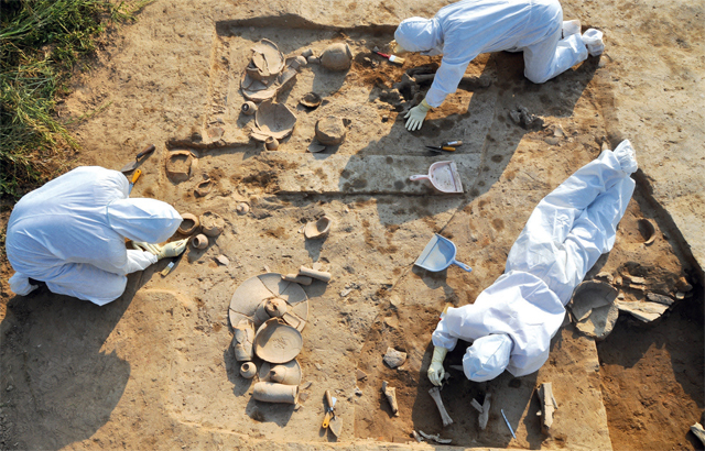 Excavation at Rakhigarhi, in Haryana, began in 2013