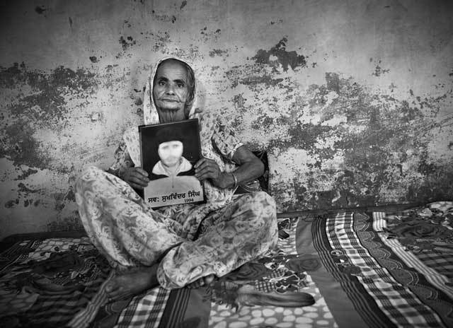 "Gindo Kaur's son Sukwinder disappeared from Tarn Taran district when he was around 18 or 20. ""One day the two of us were working in the field and he went to bathe at the hand pump. The last thing he said to me as he left was 'I want to have rice pudding today.' I never saw him again."""