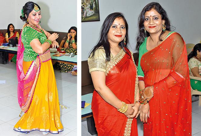 (L) Meetu Khanna (R) Sarita and Pooja Yadav (BCCL/ Farhan Ahmad Siddiqui)