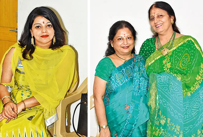 (L) Smriti Tiwari (R) Vandana and Nandita (BCCL/ Farhan Ahmad Siddiqui)