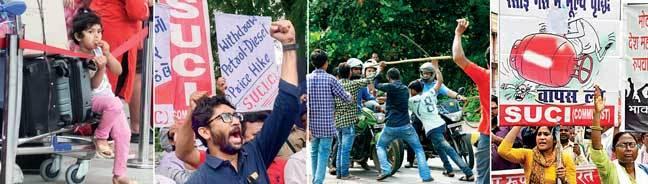 A child stuck at Bengaluru airport; Gujarat MLA Jignesh Mevani; Protesters target a biker; An agitation in Patna