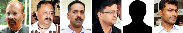 LtoR: DG Vanzara, NK Amin, RK Pandian, Vipul Aggarwal, Dalpat Singh Rathod, Dinesh MN