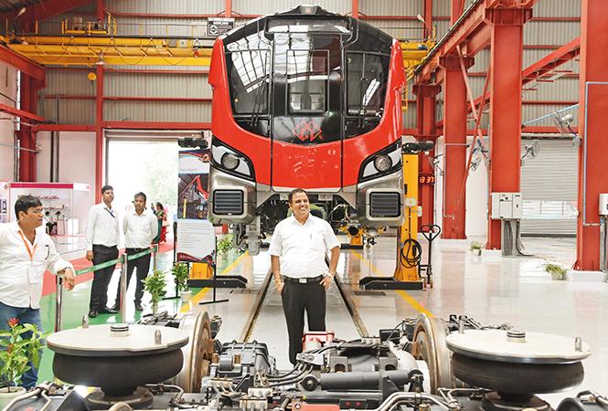 Kumar Keshav at the Transport Nagar Metro Depot (BCCL/ Farhan Ahmad Siddiqui)