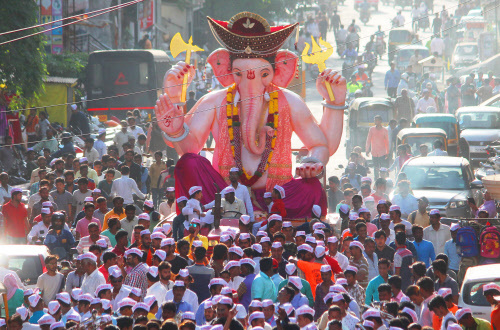 Happy Ganesh Chaturthi! May Bappa bring you loads of joy and prosperity!