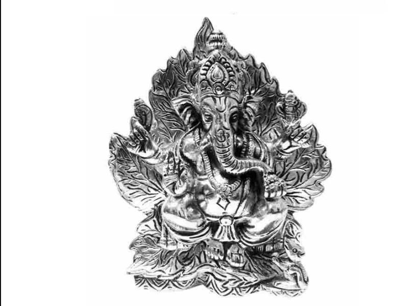 Aluminium Ganesha Idol