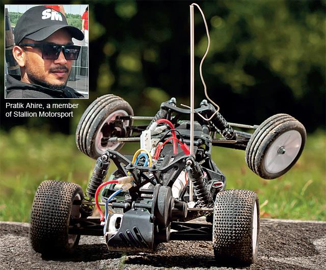 Pratik Ahire, a member of Stallion Motorsport