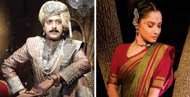 Jisshu Sengupta in the film; Ankita Lokhande as Jhalkaribai