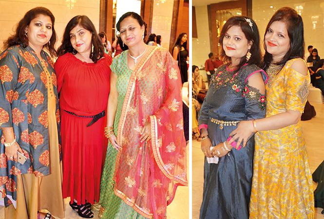 (L) Anshuma, Nandita and Jyotsana (R) Ashima and Jyotsana (BCCL/ IB Singh)