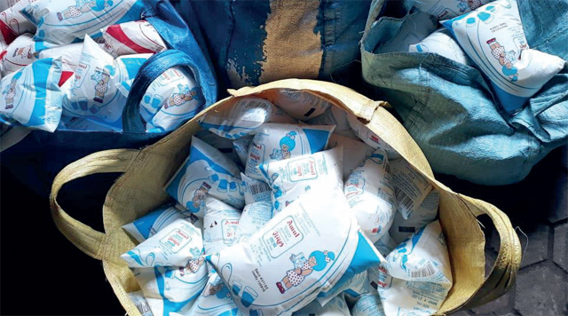 629 packets of milk have been recovered