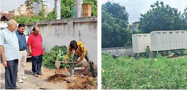 Vigilant citizens notify Ahmedabad Municipal Corporation after the builder tries to connect outlet from mobile toilets with AMC sewerage