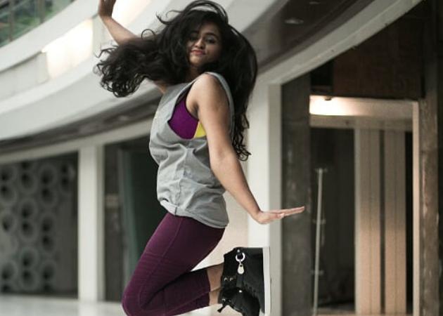 Blogger Anu Mohan wears Reebok speedwick leggings, Rs 2,350