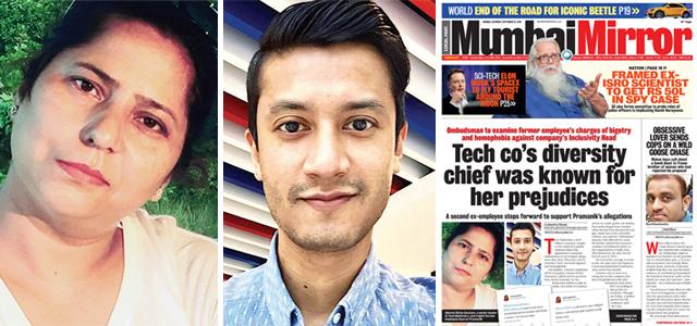 (From left) Richa Gautam, former senior leader at Tech Mahindra, and Gaurav Pramanik; (right) Mirror's report yesterday