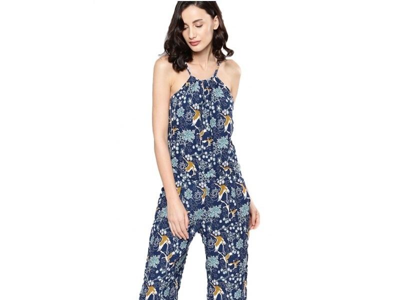 Nush Crane print jumpsuit