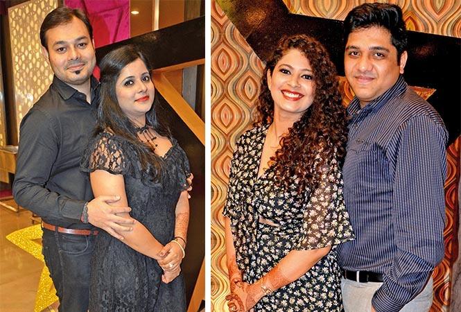 (L) Shashank and Priyanka (R) Shikha and Vivek (BCCL/ IB Singh)