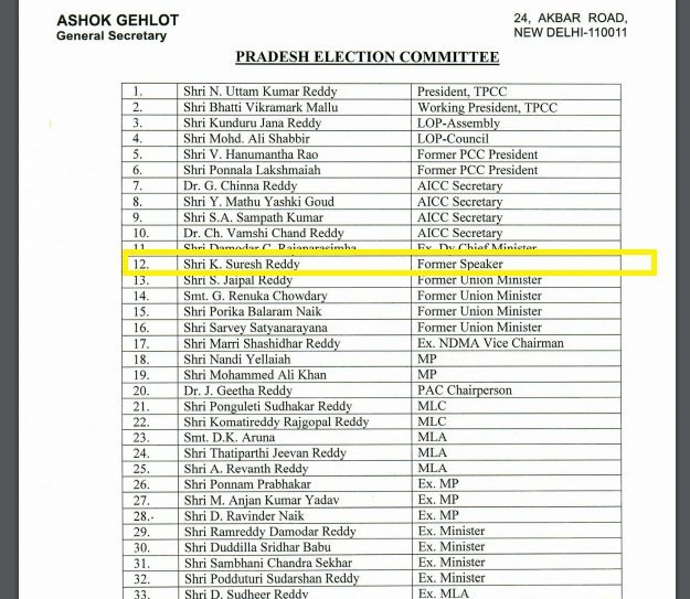 Image result for TRS leader Suresh Reddy's name surfaces in Congress