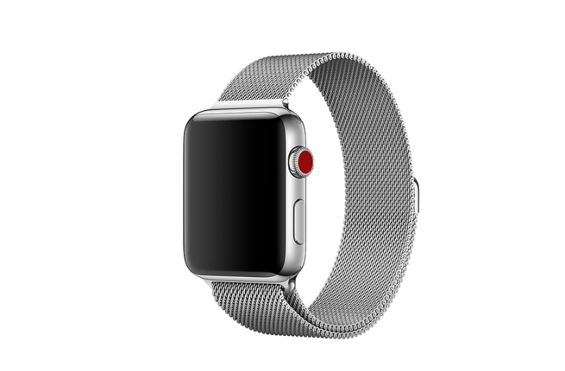 Apple Watches with Milanese loop