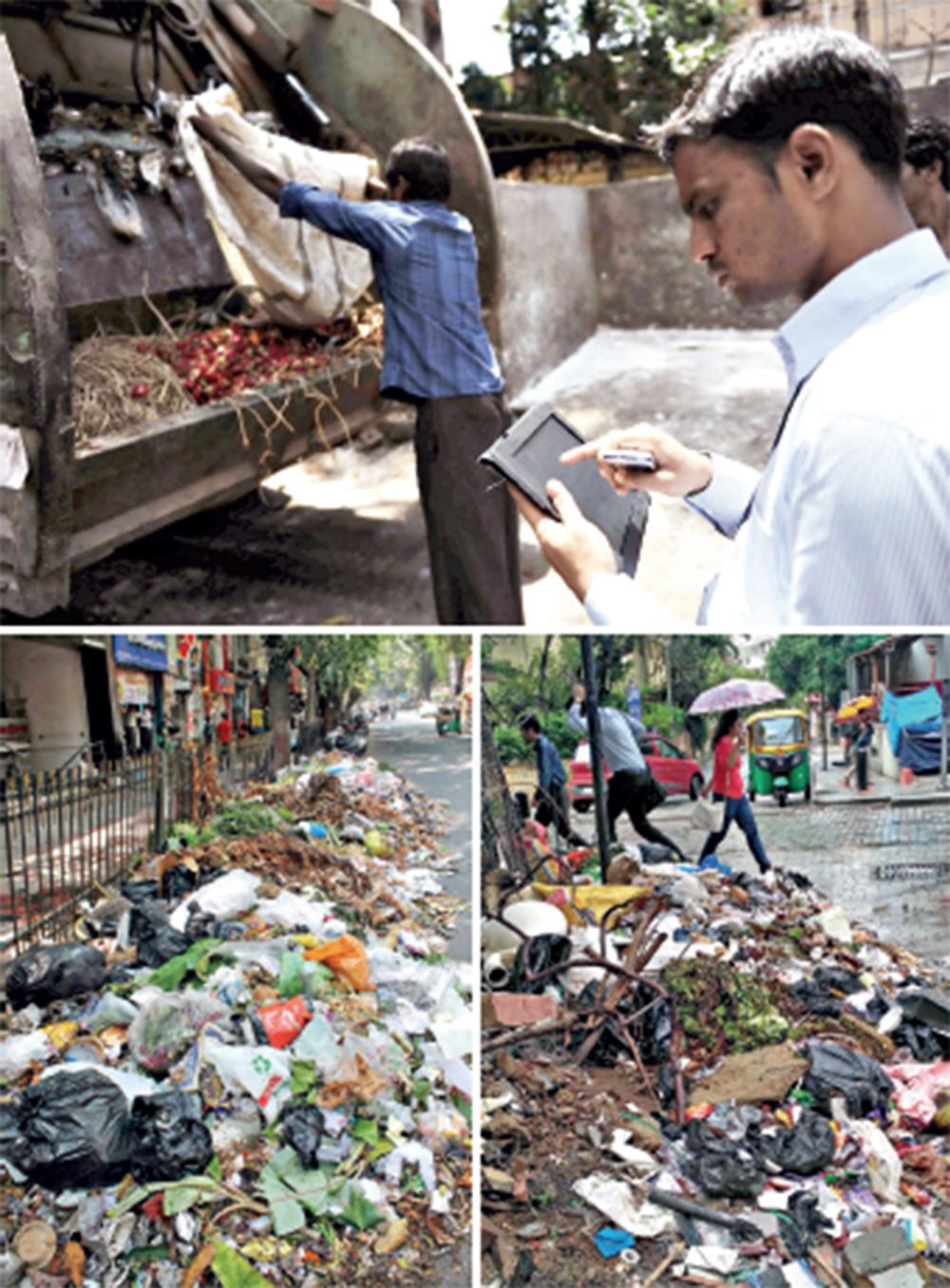 BBMP encourages Bengalureans to report common problems such as garbage, poor roads, tree-felling etc through the Sahaaya citizen-centric service interface