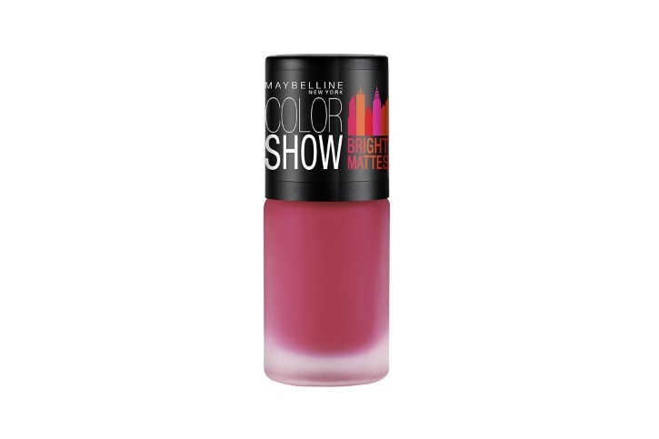 Maybelline New York Colour Show Bright Matte Nail Paint, Peppy Pink
