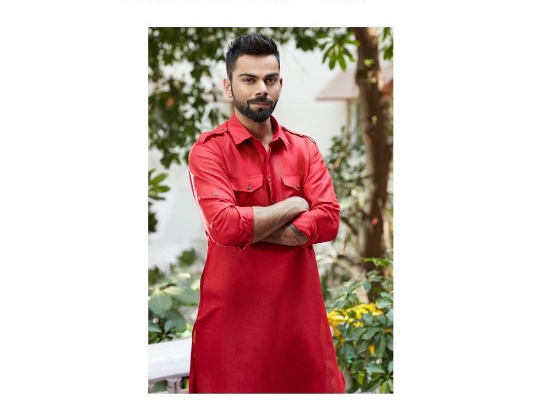 Manyavar Suave Red Pathan