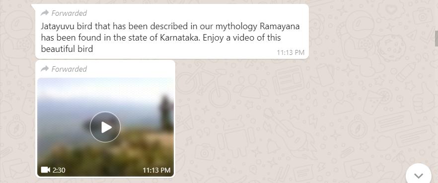 FAKE ALERT: Don't fall for WhatsApp video saying 'Jatayu