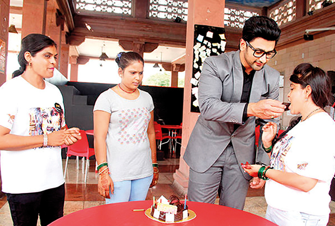 Actor Nishant Singh Malkani celebrated his birthday with the survivors (BCCL)