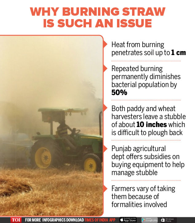 Why burning straw is such an issue