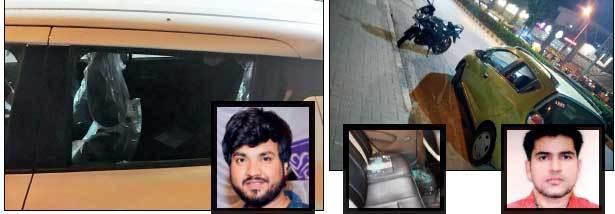 Suraj Gaikwad (R) lost his MacBook Pro worth around Rs 2.3 lakh, while Sahil Malik (far R) lost a Dell worth Rs 1 .5 lakh.
