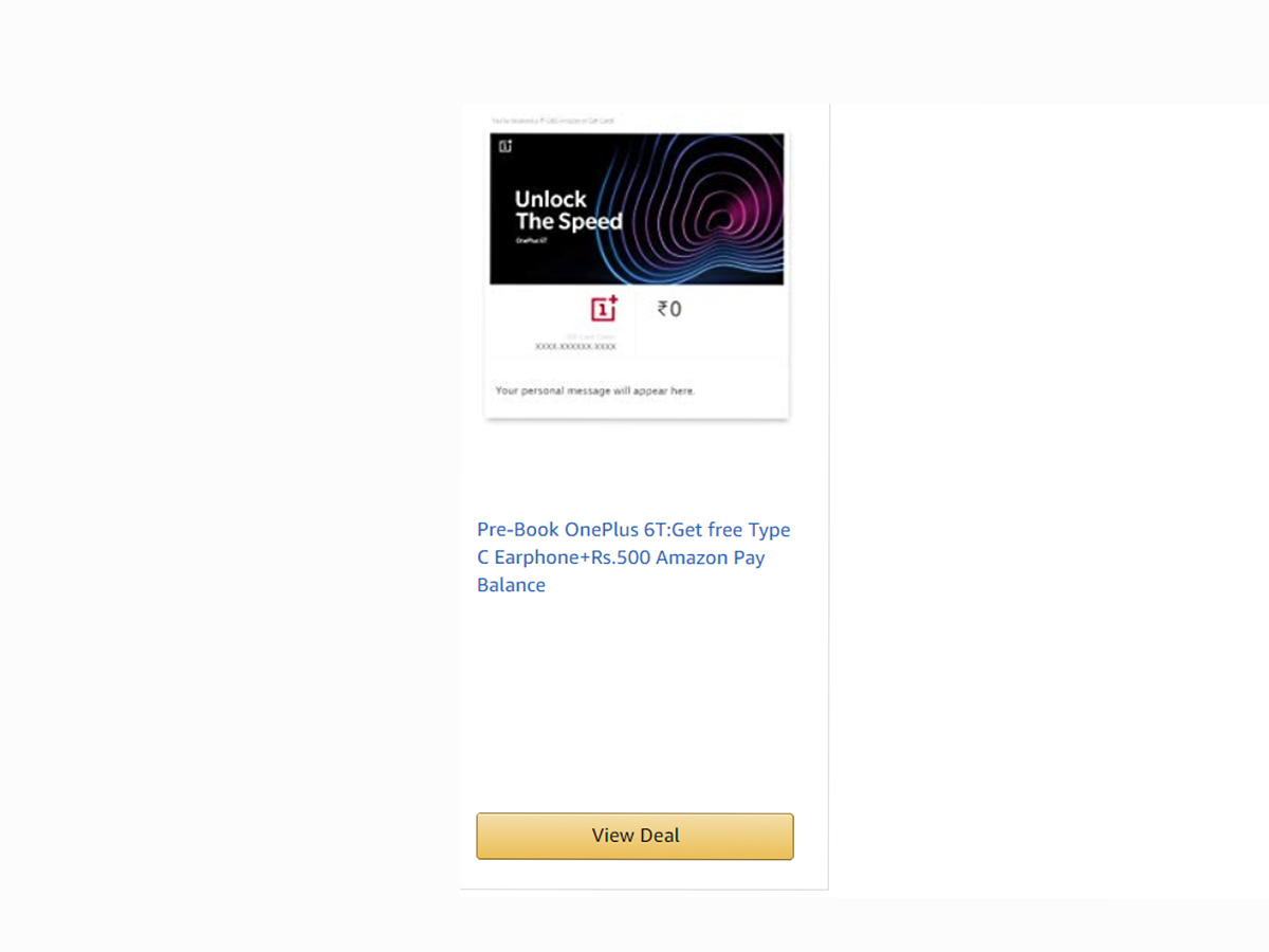 Oneplus 6T Pre Order Offer: OnePlus 6T's pre-booking offer on Amazon
