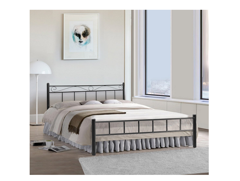 FurnitureKraft London Metal King Size Double Bed