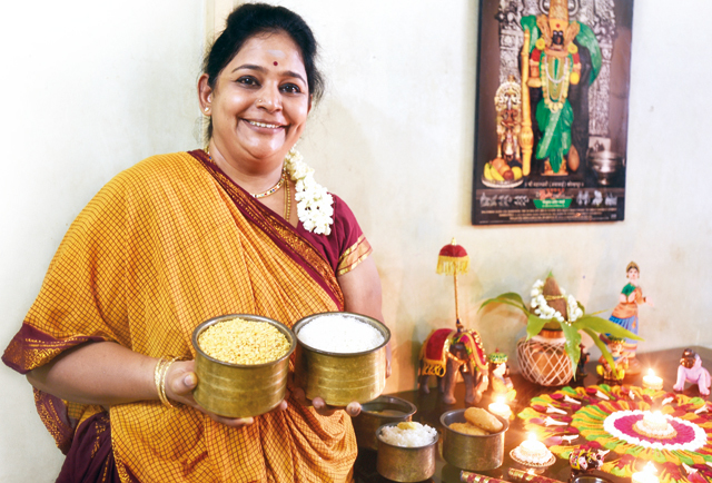 During Navratri, Geeta Sridhar, a Matunga-based social worker, drinks only milk mixed with jaggery