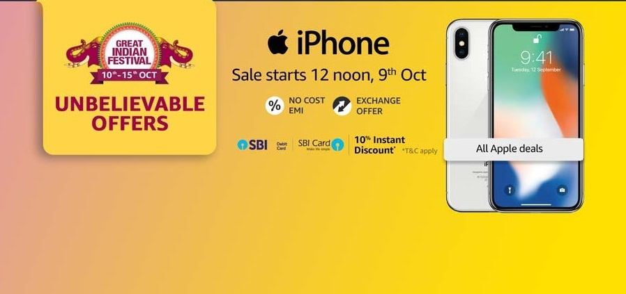 iPhone X (64 GB) for Rs 69,999