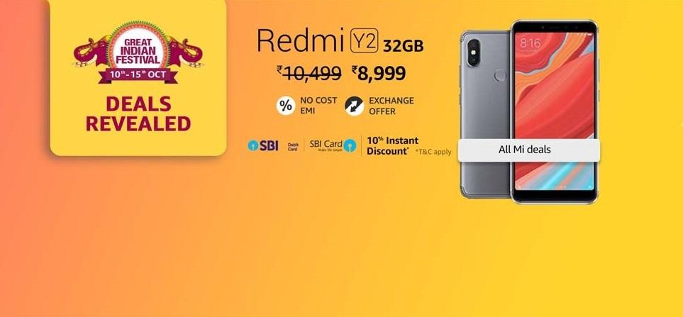 Redmi Y2 (4GB+32GB) at Rs 8,999