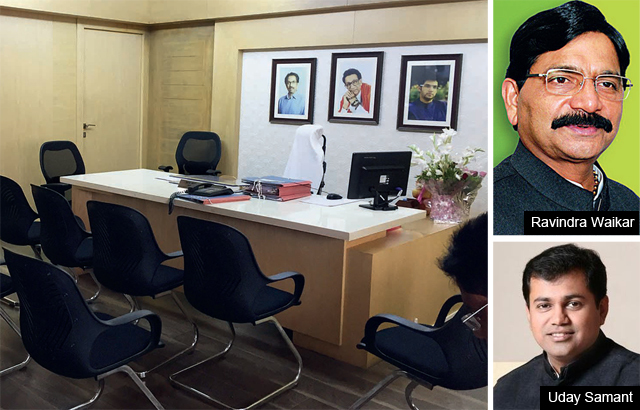 The sought-after office, also said to be the swankiest, in the MHADA headquarters.