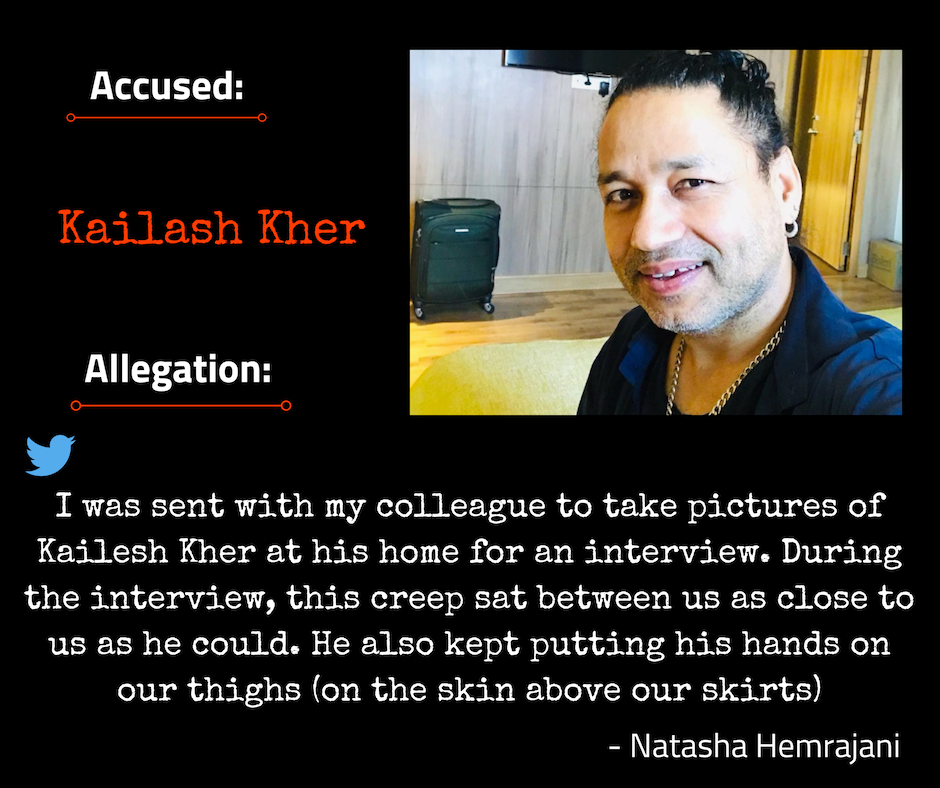 Kailash Kher accused of sexually harassing his colleague