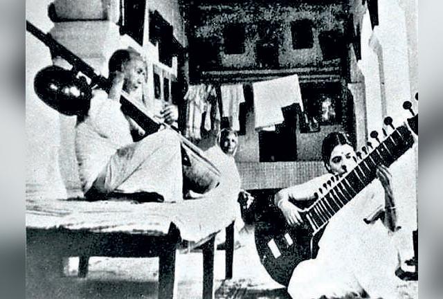 Annapurna Devi with her father Ustad Allauddin Khan