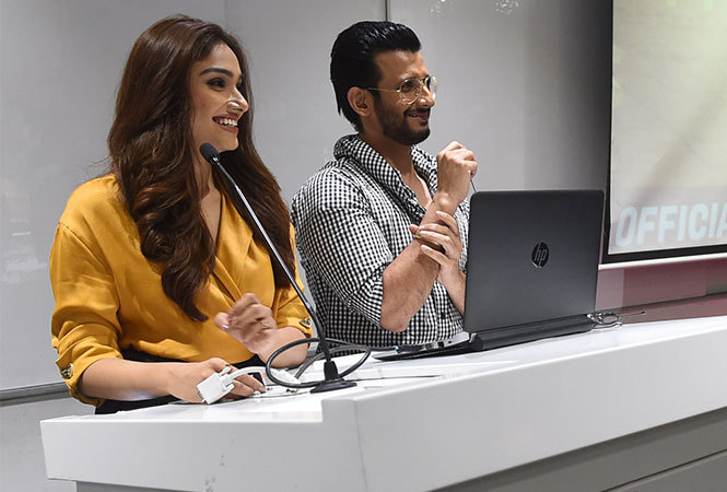 Sharman Joshi and Aishwarya Devan interacted with the students of Bennett University