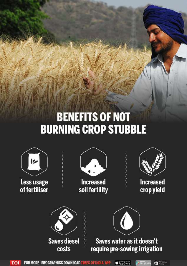 Benefits of not burning crop stubble
