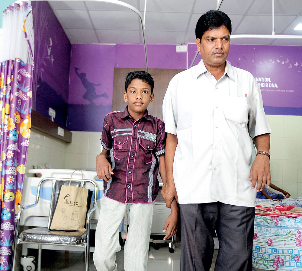 Yathish R suffers from Gaucher