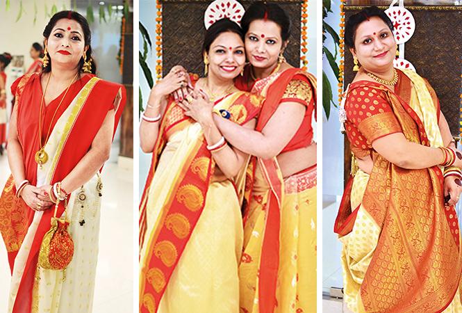 (L) Shalini (C) Vandana and Vartika (R) Yesha (BCCL/ Pankaj Singh)