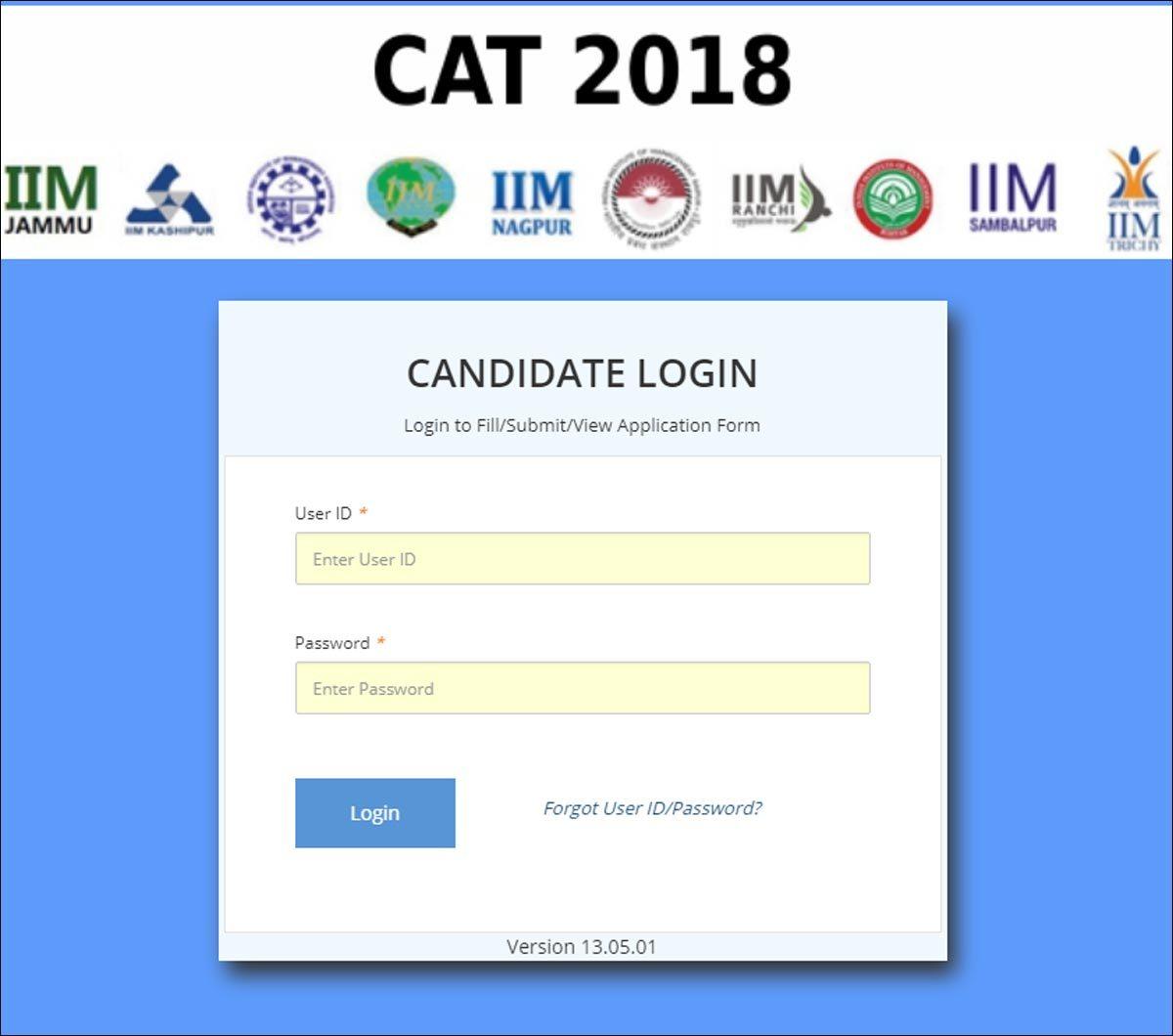 CAT Admit Card 2018