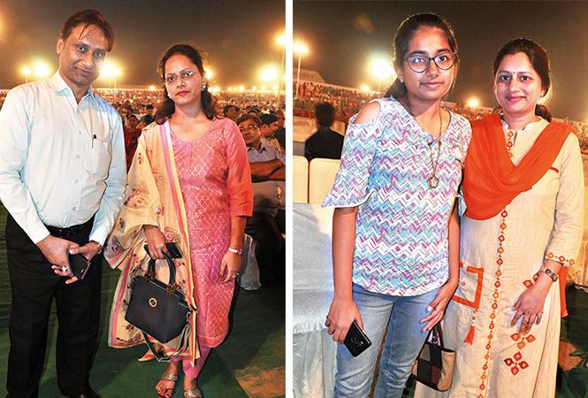 (L) Amit and Arpita (R) Divya and Deepika (BCCL/ AS Rathor)