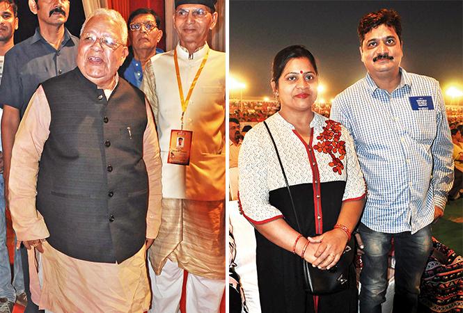 (L) Kalraj Mishra (R) Mukta and Ravindra (BCCL/ AS Rathor)