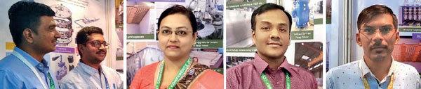 (From left) Dedicated to project: Hiten Vaghela with GIrish Gupta, Dipal Soni, Pratik Patel and Manoj Patel