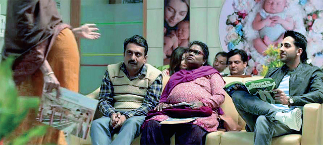 Ayushmann Khurana in a still from Badhaai Ho