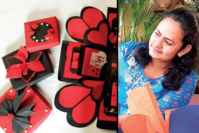 Salunkhe uses Instagram to sell her handmade products