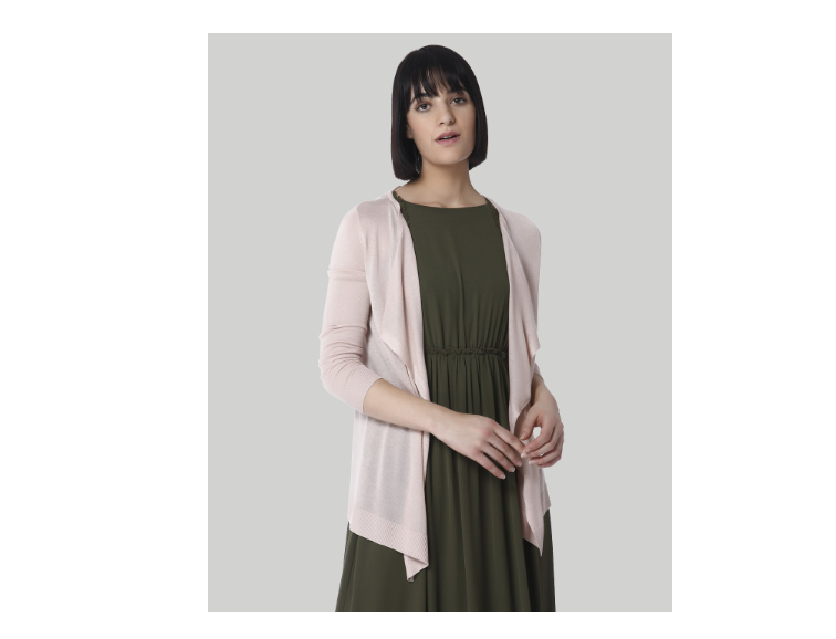 Pink front open shrug by Vero Moda