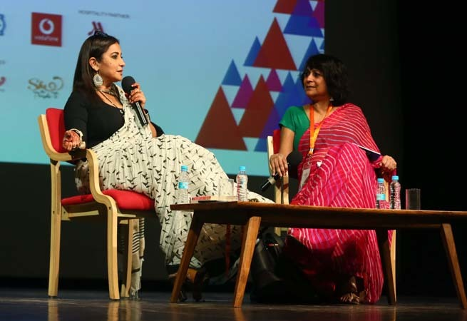 Divya shared her Bollywood journey with Jaipur audience in a candid chat